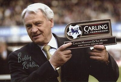 Former Newcastle United manager Sir Bobby Robson signed photo - UACC DEALER