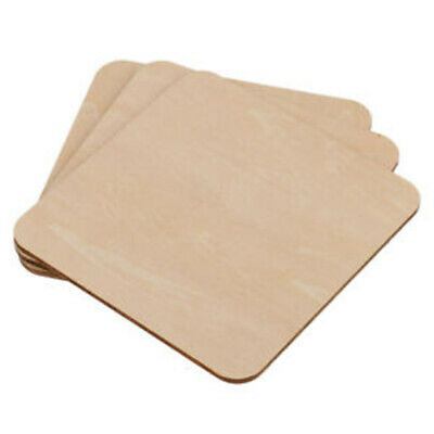 Wooden Square Plaque Unfinished Blank Coasters For DIY Pyrography Craft Supplies