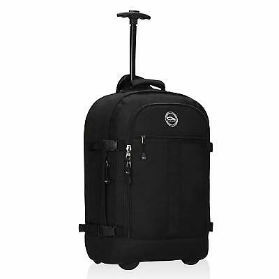 Carry on Rolling Backpack 37L Flight Approved Travel Wheeled Luggage Weekend Bag