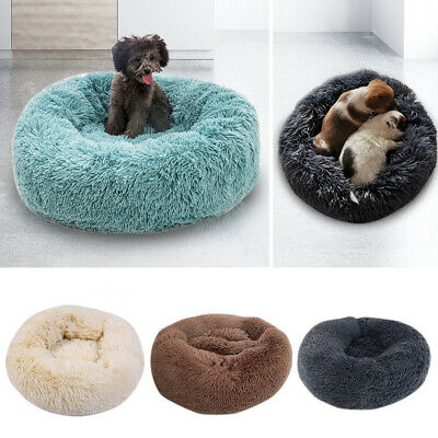 Comfy Calming Dog/Cat Bed Pet Beds Round Super Soft Plush Puppy Beds UK STOCK