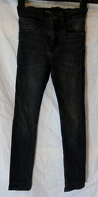 Boys Next Black Whiskered Denim Adjustable Waist Super Skinny Jeans Age 5 Years