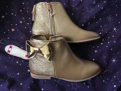 Girls Rose Gold Ted Baker Boots, Size 2, Brand New With Tags