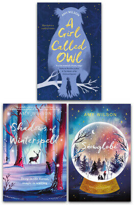 Amy Wilson 3 Books Collection Set Snowglobe, Shadows of Winterspell, A Girl Call