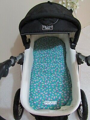 Pram bassinet liner-Pretty school of fish-Fits all pram bassinets