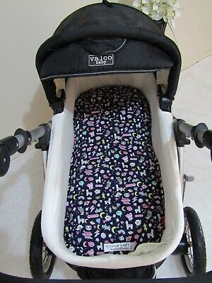 Pram bassinet liner-Llama drama-Fits all pram bassinets