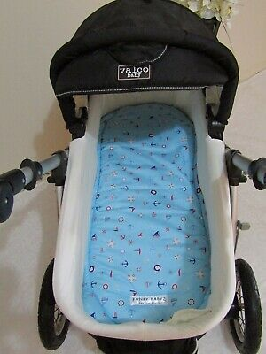 Pram bassinet liner-Nautical fun-Fits all pram bassinets