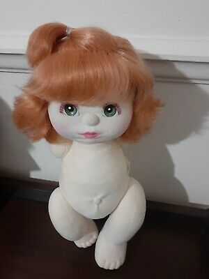 Mattel My Child Doll ~ #1 ~ Red Top-Knot, Green Eyes, Grape/Pink ~ Vintage 80's