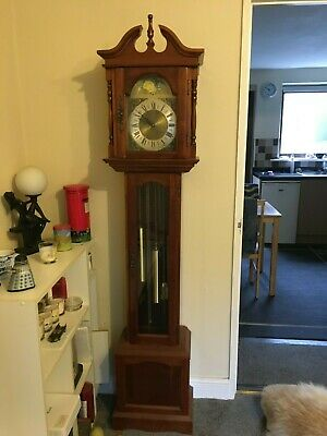 Grandfather clock full working order keeps good time with original instructions