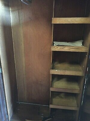Vintage Wardrobe Armoire With Shelves & Key 30/12/E