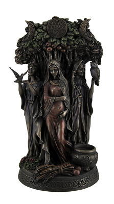 Resin Statues Danu Irish Triple Goddess of The Tuatha De Danann Bronze Finish 6