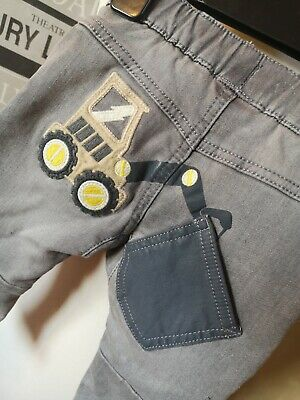 Next Boys GREY DENIM Digger Range JEANS Age  6 - 9 MONTHS  NEW TAGGED £14