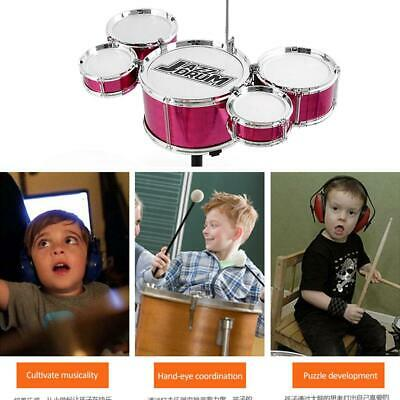 Kid Mini Jazz Drum Band Rock Set Child Toddler Percussion Instrument Toys