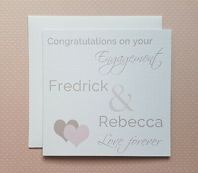 Personalised Engagement Card Special Couple Friends Son Daughter in law