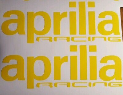 FOR APRILIA RACING DECALS RSV4 RR RF 200MM X 2 ANY COLOUR CHROME GOLD OR COLOURS