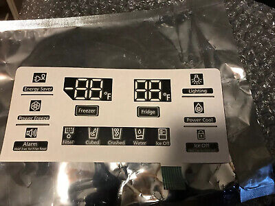 OEM DA64-03364A Samsung Appliance Inlay Display Screen LED LCD Dispenser Fridge