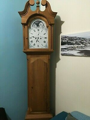 Grandfather clock solid wood battery operated