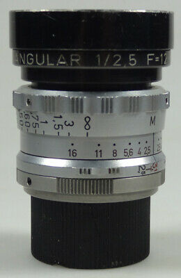 RARE lens C mount  KINOPTIK ANGULAR  12,5mm   f:2,5  ( angenieux berthiot .)