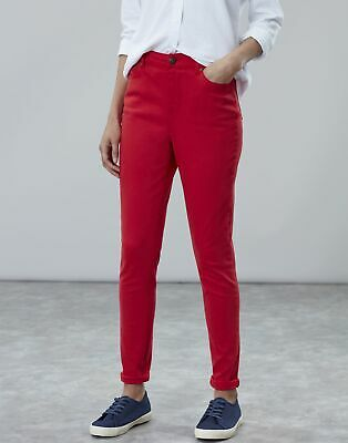 Joules Womens Monroe High Rise Stretch Skinny Jeans in NELSON RED Size 14