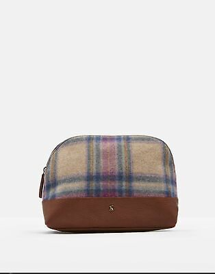 Joules Womens Onboard Tweed Large Travel Bag in MULTI PINK CHECK in One Size