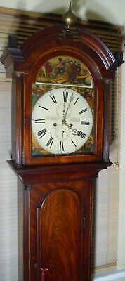 "Antique Mahogany Scottish  "" Kilmannock ""  Longcase / Grandfather Clock"