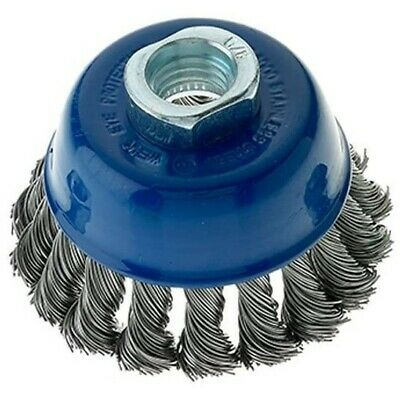 3 Pack - 2-3/4″ x 5/8″-11 Stainless Steel Wire Knot Cup Brush for Angle Grinders