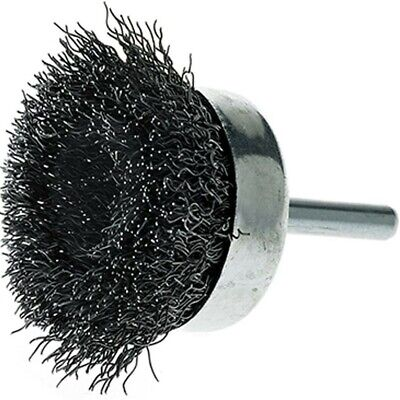 """5 Pack - 3"""" Crimped Wire Cup Brush Carbon Steel 1/4"""" Shank for Die Grinder/Drill"""