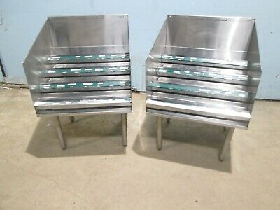 Lot Of 2 Hd Commercial Service Bar 4 Tiers Ss Liquor Bottle Holder / Station