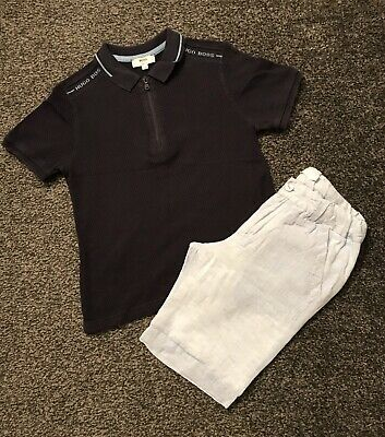 Boys Hugo Boss Polo Top Age 5 Yrs