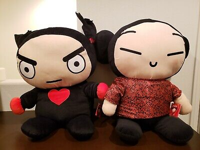 """Pucca Face Plush Doll 2/"""" Soft Plush Cell Phone Strap Hanger"""