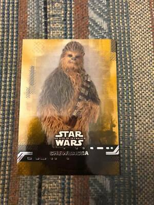 2019 Topps Star Wars Rise Of Skywalker Chewbacca Gold Parallel Card # 12 21/25