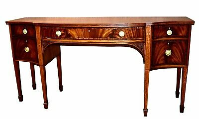 Antique Carved & Inlaid Mahogany Federal Style Sideboard