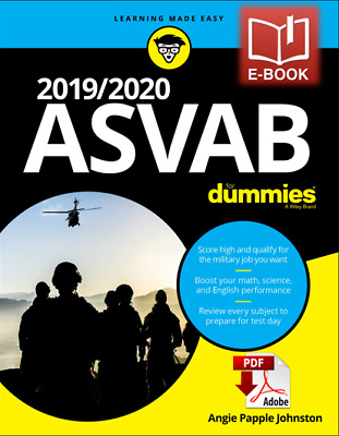 2019/2020 ASVAB For Dummies by Angie Papple Johnston (Free Shipping)⚡️🔥