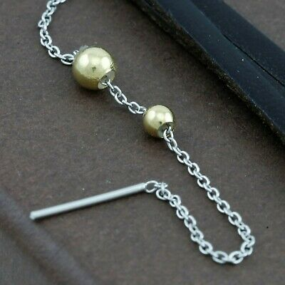 Genuine 18CT Yellow Gold Ball Stopper 3 - 4mm - 1 Unit