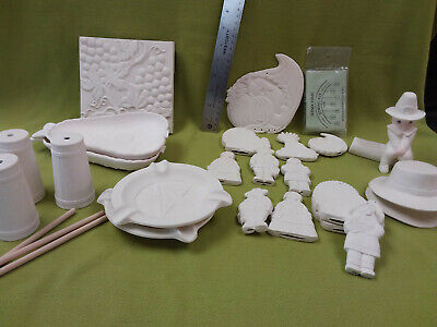 ceramic bisque lot ready to paint-24 pieces-Lot B