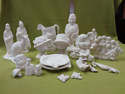 ceramic bisque lot ready to paint-23 pieces-Lot A