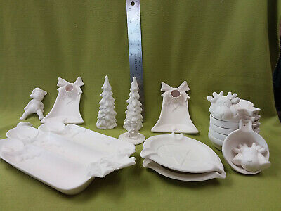 ceramic bisque lot ready to paint-19 pieces-Lot D