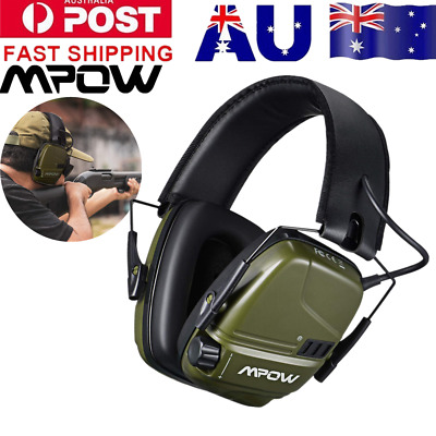 Mpow Foldable Shooting Hunting Electronic Earmuffs W/ Input Jack Ear Muffs Pro
