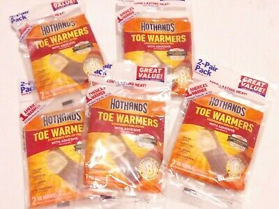 HotHands TOE WARMERS w/Adhesive(5)2 Pair Packs(Exp 7/2022)HotHands 8 Hrs of Heat