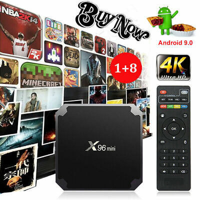 X96MINI Android 9.0 Pie S905W 4K Quad Core Smart TV BOX HDR Media Player Movies