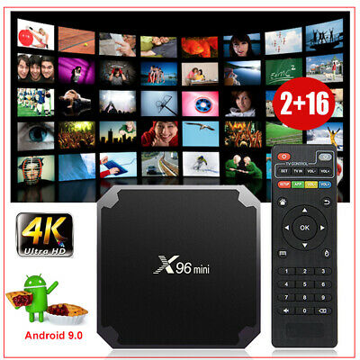 X96MINI Android 9.0 Quad Core Smart TV BOX HDMI WIFI 2+16G 4K Media Player Films