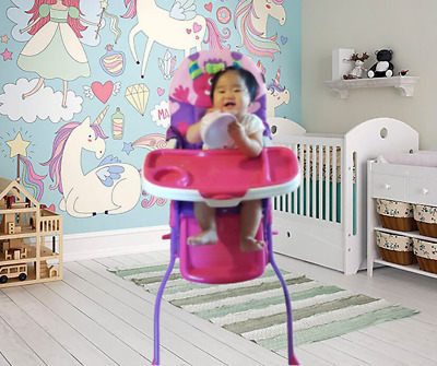 High Chair for Baby and Toddlers Girl Adjustable Portable Dining Travel Seat Kid