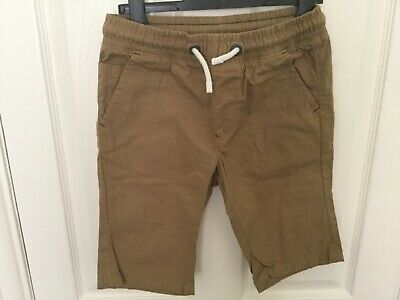 Next Tan Brown cotton boys (or girls) shorts 9 years Excellent condition