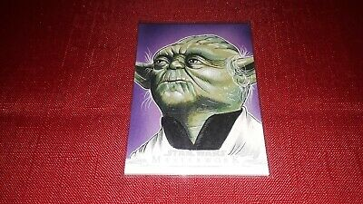 2019 Topps Star Wars Masterwork Yoda SKETCH #1/1 Mike Stephens