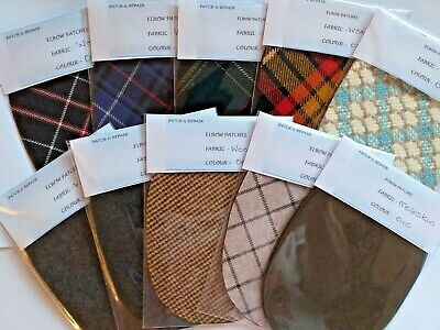 New  Wool  Oval Elbow Patches / Trimmings  In Fantastic Unusual Colors