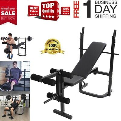 Adjustable Folding Weight Lifting Flat Incline Bench Fitness Workout Sports Gym
