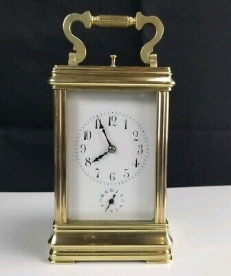 19th Century Paris Carriage Clock Brass Case