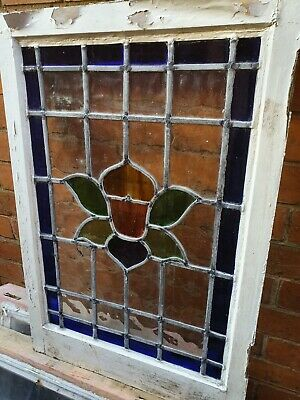 Original victorian Stained glass Panel