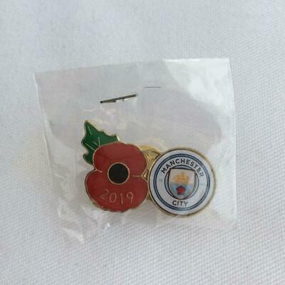 Football badge -  Manchester City FC crest and poppy badge
