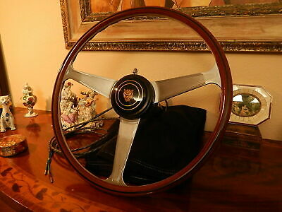"Jaguar xk140  xk 150 Wood Steering Wheel NARDI 16"" ORIGINAL Vintage New Unused"