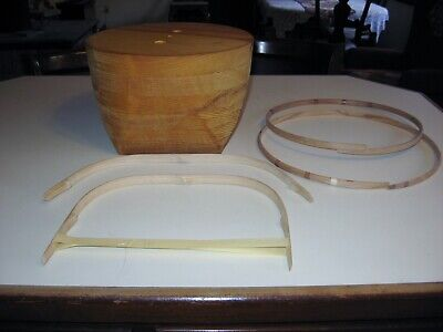 """Shaker 12"""" Basket Weaving Mold With Rims And Handles"""